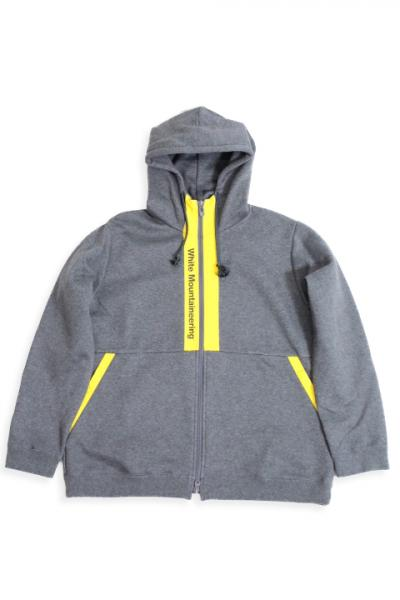 White Mountaineering /Logo Printed Contrasted Zip Up Hoodie