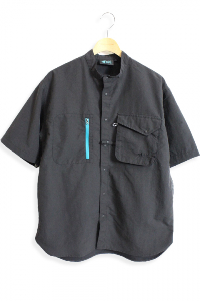 Яeft/Short Sleeve Stand Collar Shirt