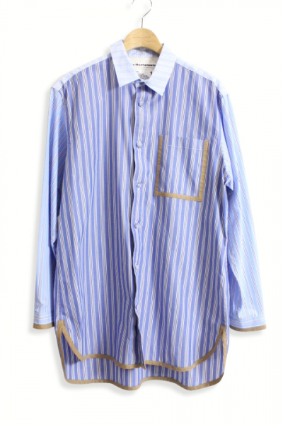 White Mountaineering / Striped Big Shirt