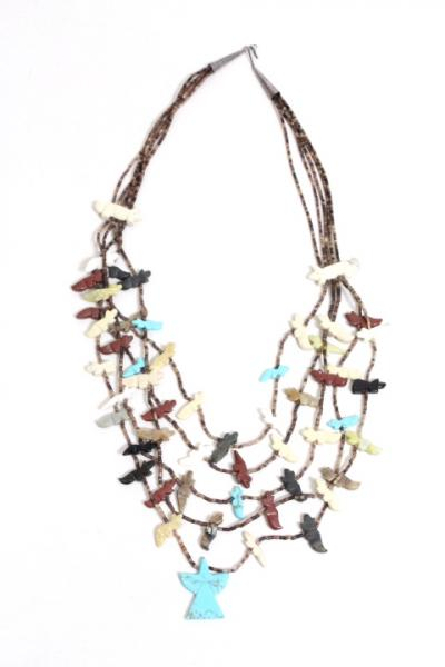 ZUNI FETISH NECKLACE-5ROW