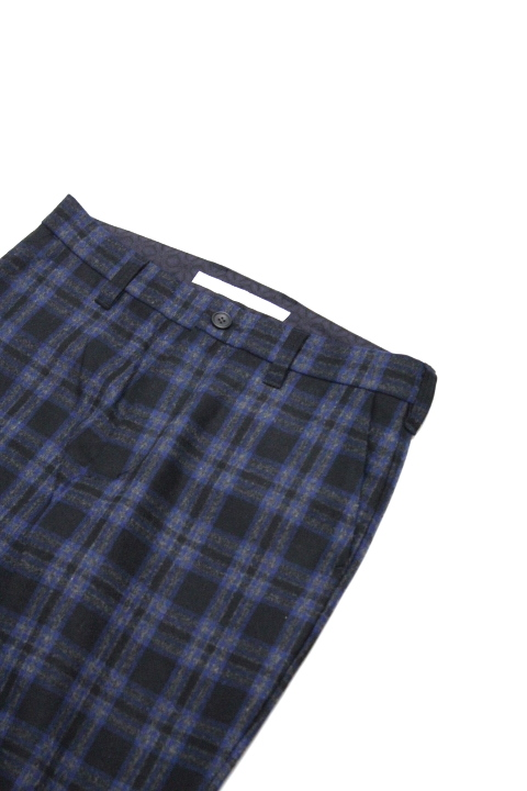 White Mountaineering/CHECK TAPERED SLACKS