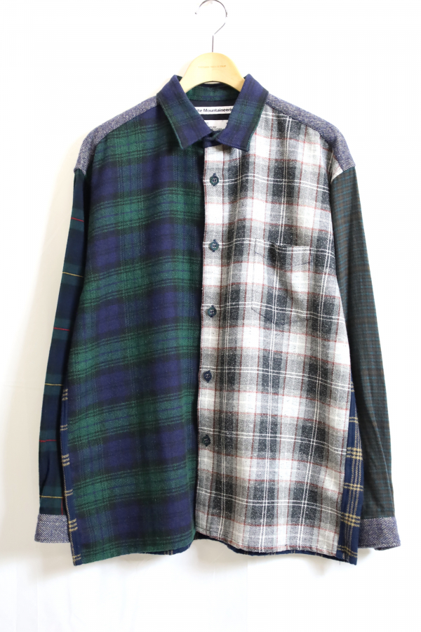 White Mountaineering / Contrasted Big Check Shirt