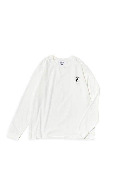 TACOMA FUJI RECORDS / TACOMA FUJI HANDWRITING LOGO embroidery LS shirt