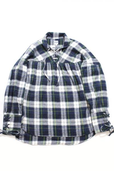 AiE/String Shirt-Cotton Flannel Plaid